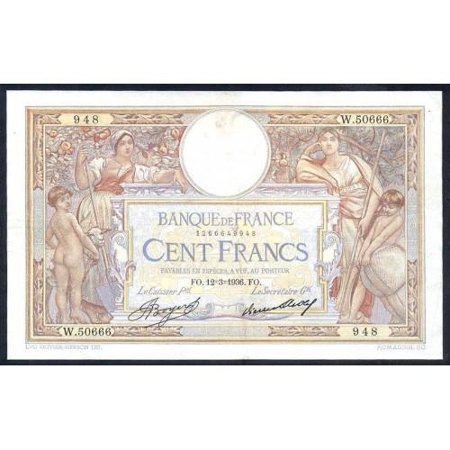 FRANCE 100 Francs 12.03.1936