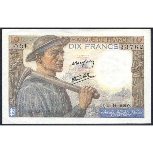FRANCE 10 Francs 26.11.1942