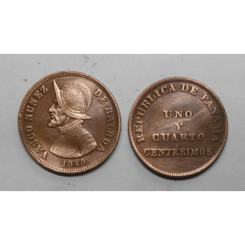 PANAMA 1-1/4 Centesimos 1940