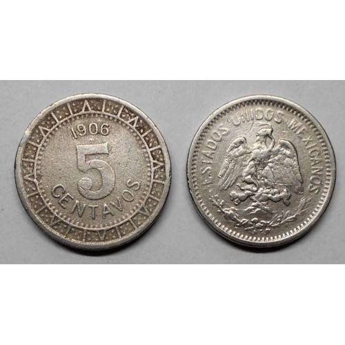 MEXICO 5 Centavos 1906