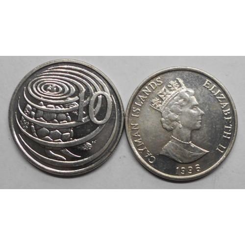 CAYMAN ISLANDS 10 Cents 1996