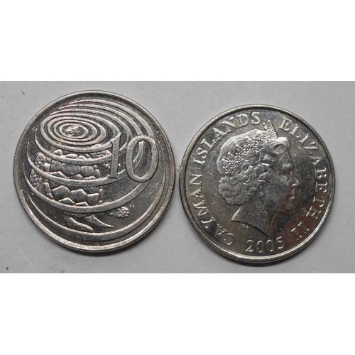 CAYMAN ISLANDS 10 Cents 2005
