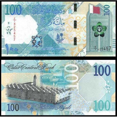 QATAR 100 Riyals 2020