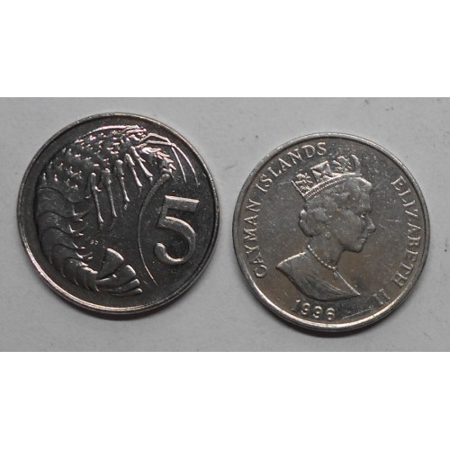 CAYMAN ISLANDS 5 Cents 1996