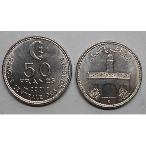 COMOROS 50 Francs 2001...