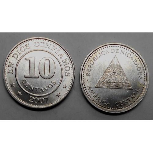 NICARAGUA 10 Centavos 2007