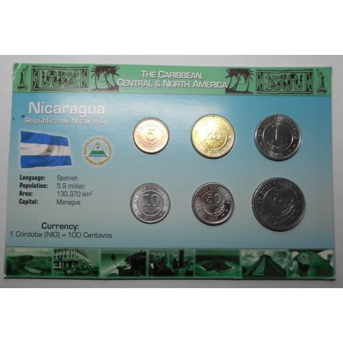 NICARAGUA Set coins 1997/2007