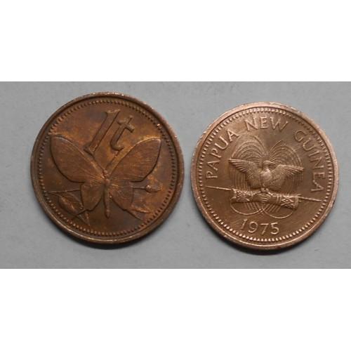 PAPUA NEW GUINEA 1 Toea 1975
