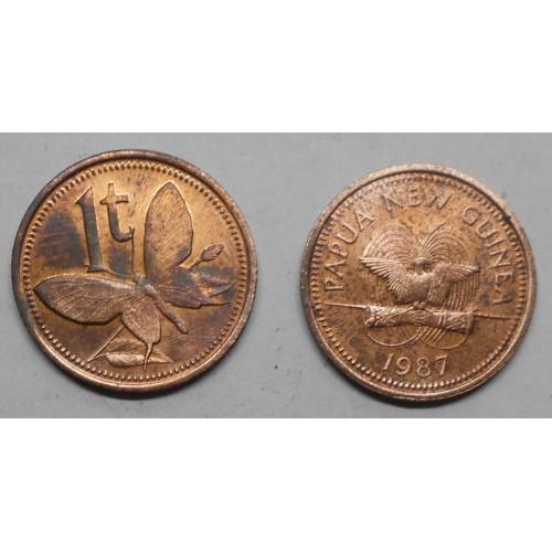 PAPUA NEW GUINEA 1 Toea 1987