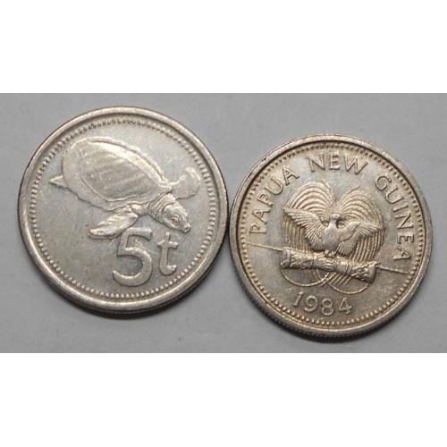 PAPUA NEW GUINEA 5 Toea 1984