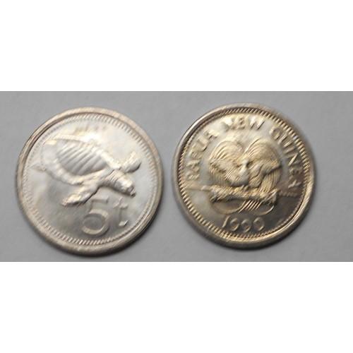 PAPUA NEW GUINEA 5 Toea 1990