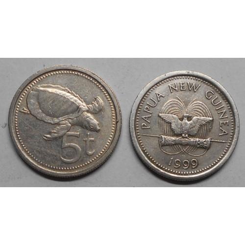 PAPUA NEW GUINEA 5 Toea 1999