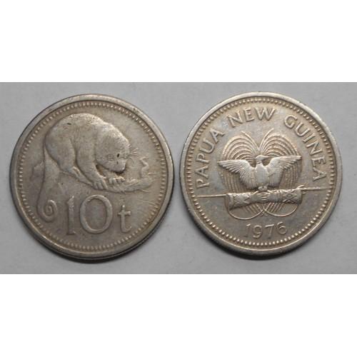 PAPUA NEW GUINEA 10 Toea 1976