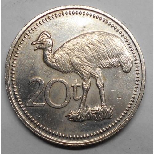 PAPUA NEW GUINEA 20 Toea 1975