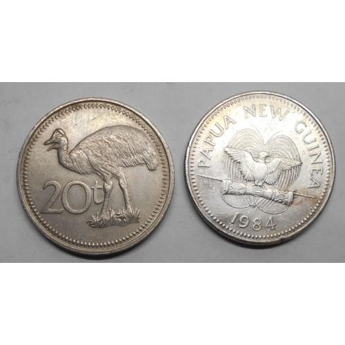 PAPUA NEW GUINEA 20 Toea 1984