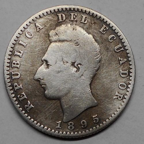 ECUADOR 2 Decimos 1895 AG