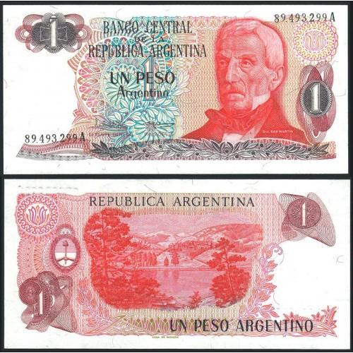 ARGENTINA 1 Peso Argentino...