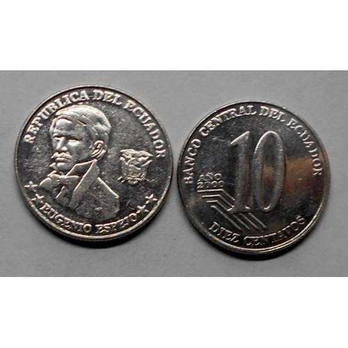 ECUADOR 10 Centavos 2000