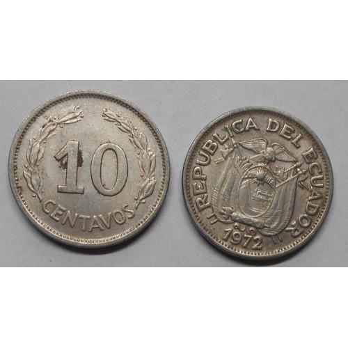 ECUADOR 10 Centavos 1972