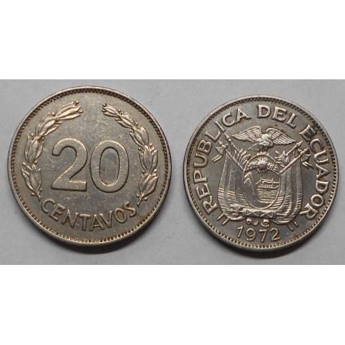 ECUADOR 20 Centavos 1972