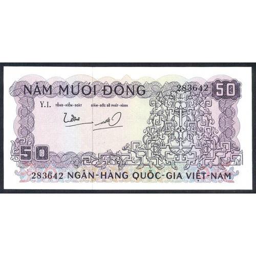 VIET NAM SOUTH 50 Dong 1966