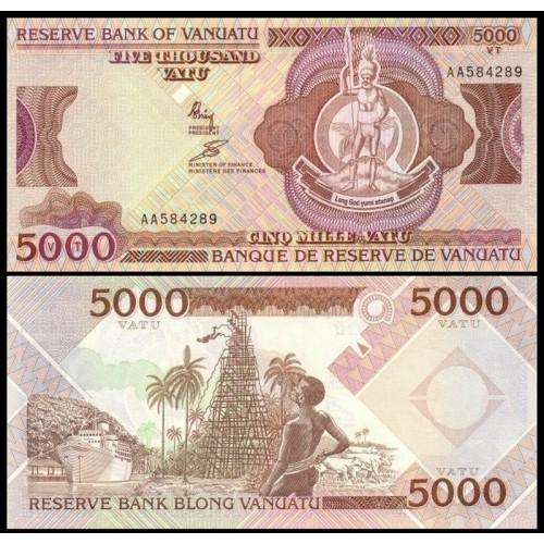 VANUATU 5000 Vatu 1993