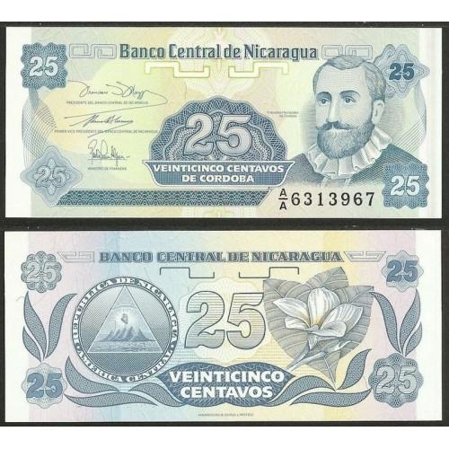 NICARAGUA 25 Centavos 1991