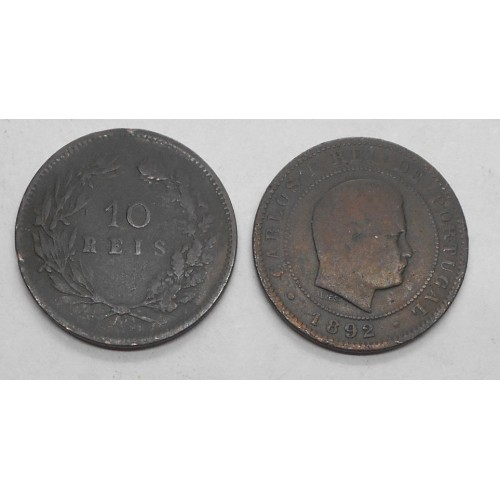 PORTUGAL 10 Reis 1892