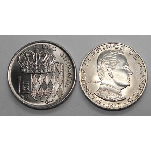 MONACO 1 Franc 1977