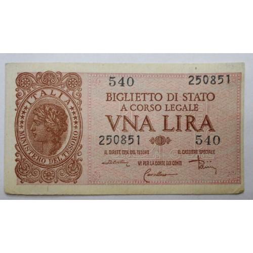 ITALIA 1 Lira 23.11.1944...