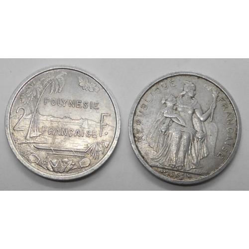 FRENCH POLYNESIA 2 Francs 1965