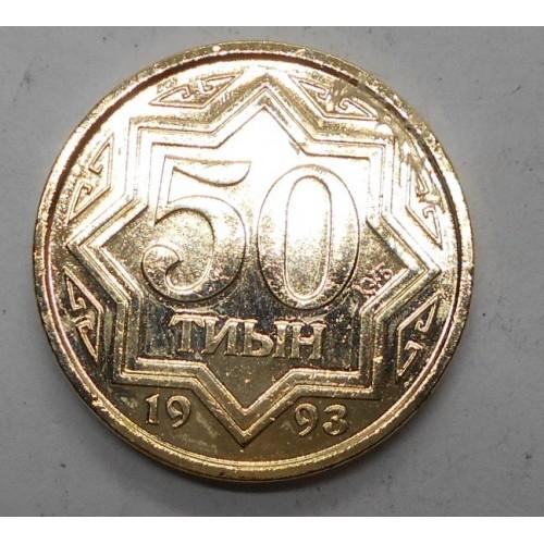 KAZAKHSTAN 50 Tyin 1993 Brass