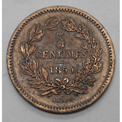 LUXEMBOURG 5 Centimes 1854