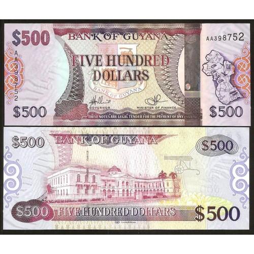 GUYANA 500 Dollars 2011