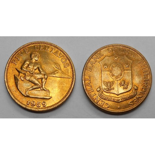 PHILIPPINES 5 Centavos 1959