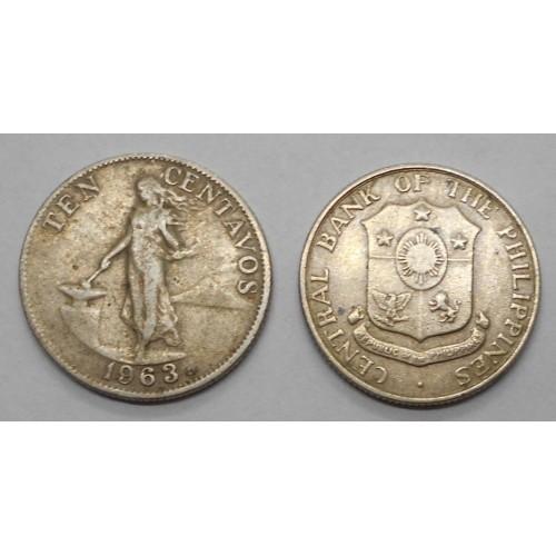 PHILIPPINES 10 Centavos 1963