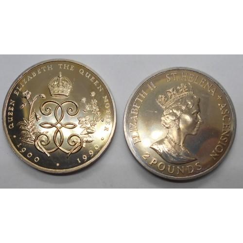 SAINT HELENA 2 Pounds 1990...