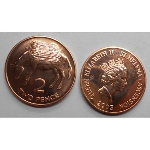 SAINT HELENA 2 Pence 2003