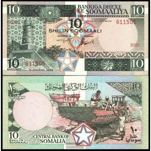 SOMALIA 10 Shillings 1983