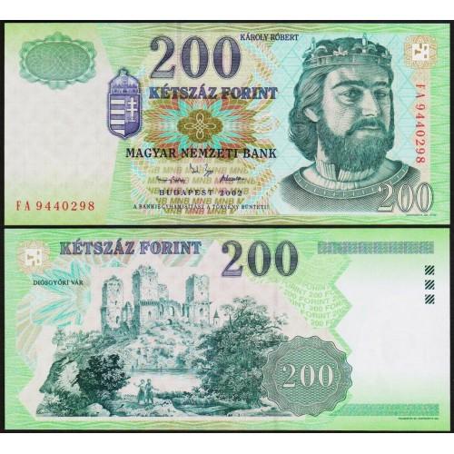 HUNGARY 200 Forint 2002
