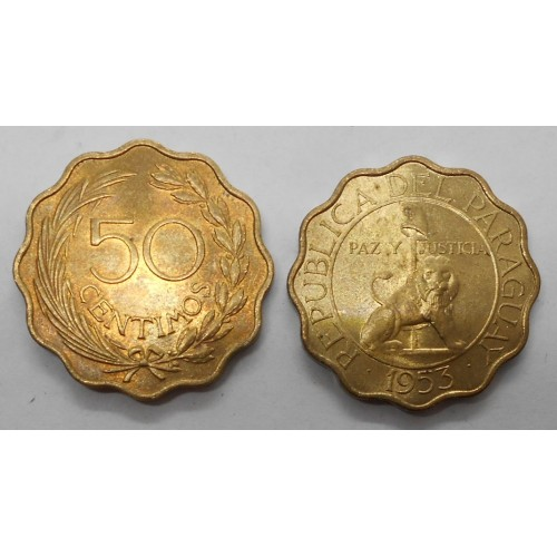 PARAGUAY 50 Centimos 1953