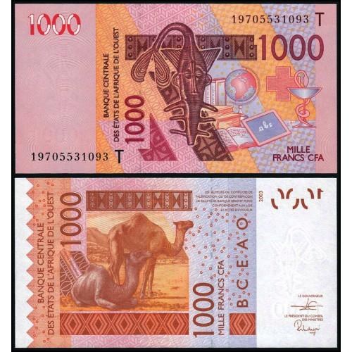 TOGO (W.A.S.) 1000 Francs 2019
