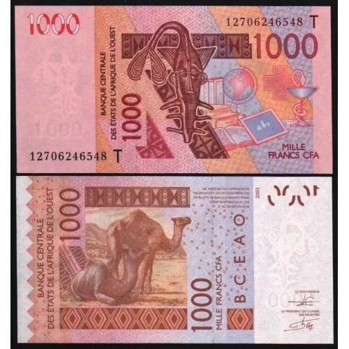 TOGO (W.A.S.) 1000 Francs 2012