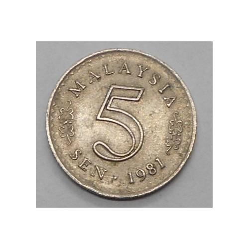 MALAYSIA 5 Sen 1981