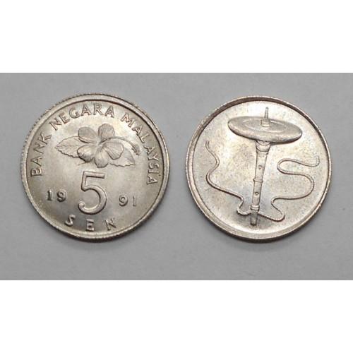 MALAYSIA 5 Sen 1991