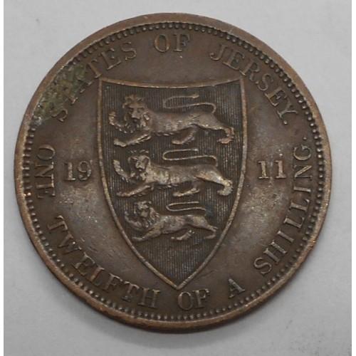 JERSEY 1/12 Shilling 1911