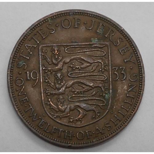 JERSEY 1/12 Shilling 1933