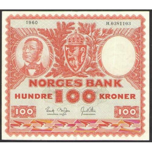 NORWAY 100 Kroner 1960