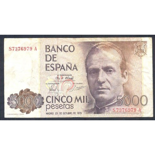 SPAIN 5000 Pesetas 1979