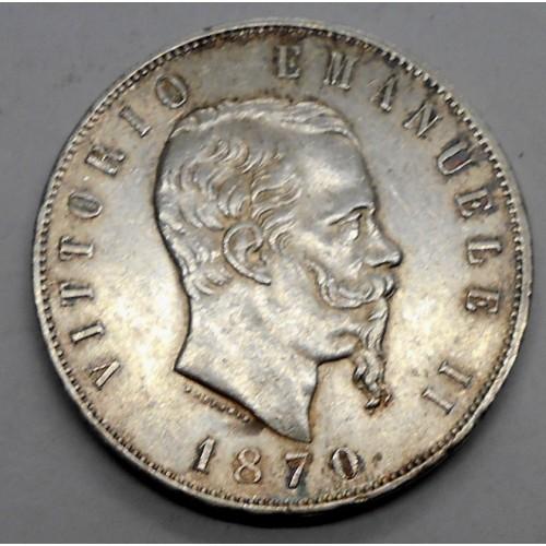 5 LIRE 1870M AG